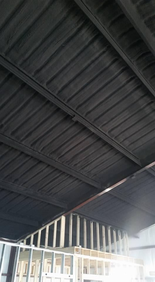 Spray Foam Insulation Black Paint