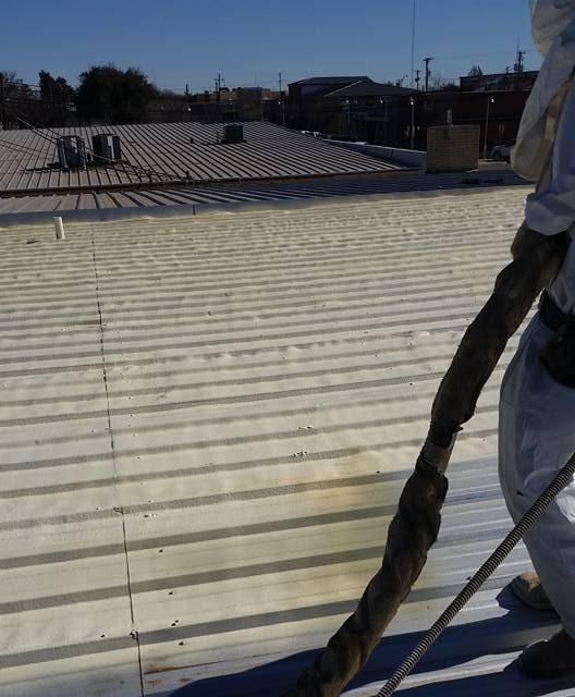 Roof Foam Application